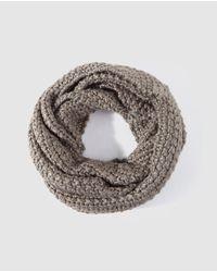 El Corte Inglés Gray Grey Double Knit Cowl