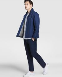 Lacoste - Blue Hooded Jacket for Men - Lyst