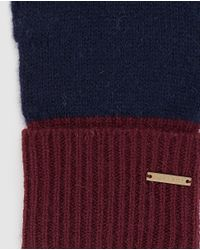 Gloria Ortiz | Navy Blue And Maroon Knitted Wool Gloves | Lyst