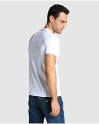 Armani Jeans - Short-sleeve White T-shirt for Men - Lyst