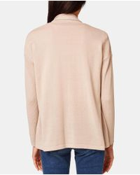Esprit - Natural Long-sleeved Cardigan With Pockets - Lyst