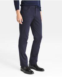 Armani - Regular-fit Blue Five-pocket Trousers for Men - Lyst