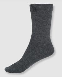 Punto Blanco | Gray Dark Grey Wool Socks | Lyst