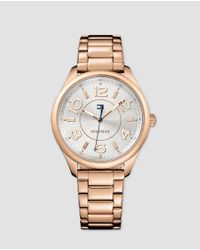 Tommy Hilfiger - Pink Sofía Rose Gold Watch - Lyst