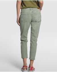 GREEN COAST - Multicolor Khaki Cropped Jeans - Lyst
