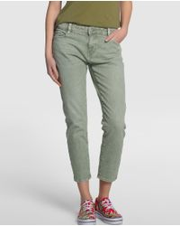 GREEN COAST | Multicolor Khaki Cropped Jeans | Lyst