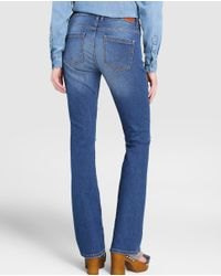 GREEN COAST - Blue Ripped Bell-bottom Jeans - Lyst