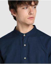 GREEN COAST - Plain Blue Slim-fit Shirt for Men - Lyst