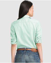 Polo Ralph Lauren - Basic Green Shirt - Lyst
