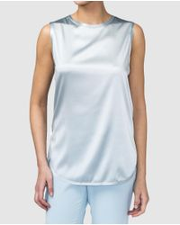 Mirto - Pale Blue Sleeveless Top - Lyst