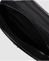 Lacoste - Mens Black Messenger Bag With Foldover Flap And Zip for Men - Lyst