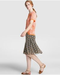 Escolá | Orange Sweater With Leaf Design | Lyst