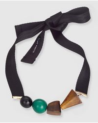 Gloria Ortiz - Multicolor Necklace With Ribbon And Beads - Lyst