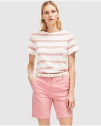 Lacoste - Multicolor Fuchsia Bermuda Shorts With Three Pockets - Lyst