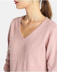 Yera - Pink Sweater With Beading - Lyst