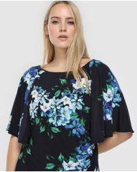 Denim & Supply Ralph Lauren - Blue Plus Size Short Floral Print Dress - Lyst