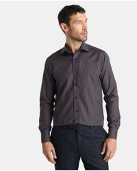 Mirto - Classic Brown Printed Shirt for Men - Lyst