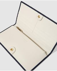 Georges Rech - Navy Blue Leather Wallet With Clasp Fastening - Lyst