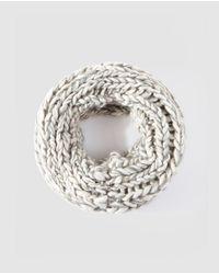 El Corte Inglés Gray Grey Knit Plaited Cowl