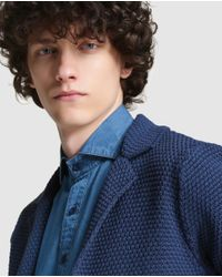 Esprit - Blue Blazer-style Cardigan for Men - Lyst