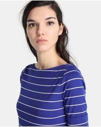 Lauren by Ralph Lauren - Blue Striped Short Sleeved T-shirt - Lyst
