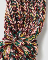 Jo & Mr. Joe | Multicolor Multicoloured Knitted Scarf With Pompoms | Lyst