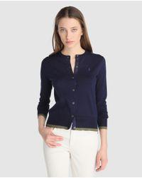 Polo Ralph Lauren - Navy Blue Cardigan - Lyst