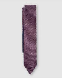 Tommy Hilfiger - Purple Patterned Silk Tie for Men - Lyst