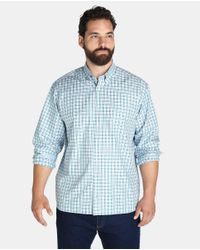 Mirto - Big And Tall Classic-fit Green Checked Shirt for Men - Lyst