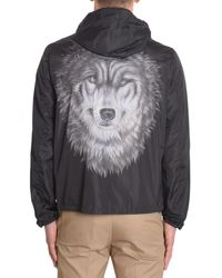 Valentino | Black Wolf Print K-way In Technical Fabric for Men | Lyst