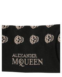 Alexander McQueen - Black Short Cotton Blend Skull Socks for Men - Lyst