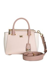 MICHAEL Michael Kors - Pink Nolita Mini Leather Messenger Bag - Lyst