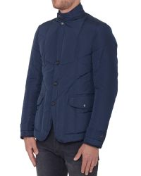 Alexander McQueen - Blue Padded Jacket In Technical Fabric for Men - Lyst