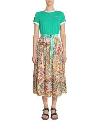 RED Valentino - Multicolor Flower Embroidered Midi Skirt - Lyst