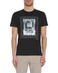 """BOSS Green - Black """"tee 5"""" Regular Fit Cotton T-shirt for Men - Lyst"""