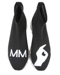 MM6 by Maison Martin Margiela - Black Sock-sneakers With Logo for Men - Lyst