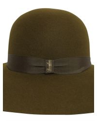 Borsalino Cappello In Feltro Con Ala Larga in Green - Lyst 5ed08ec7b9a1