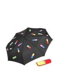 Moschino - Black Pills Printed Mini Umbrella - Lyst