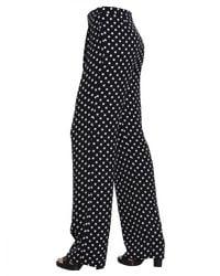 MICHAEL Michael Kors | Black Macro-dot Print Trousers With Darts | Lyst