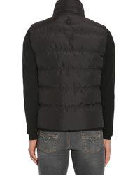 Versace - Black Sleeveless Vest In Technical Fabric for Men - Lyst