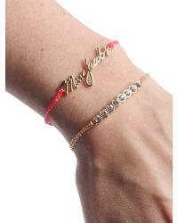 Marc Jacobs - Metallic Double Frienship Bracelet With Logo - Lyst