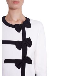 Boutique Moschino - White Cotton Piqué Jacket With Contrasting Colour Trim - Lyst