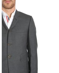 Thom Browne - Gray Completo Classico In Twill Di Lana Super 120's for Men - Lyst