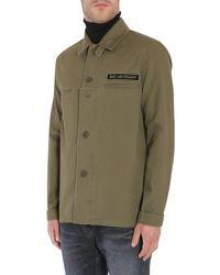 "Saint Laurent - Green ""bad Lieutenant"" Shirt Jacket In Cotton Gabardine for Men - Lyst"