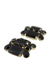 DSquared² - Black Swarovski Earrings With Clip Closure - Lyst