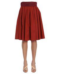 Paule Ka - Red Burgundy Cotton Skirt - Lyst