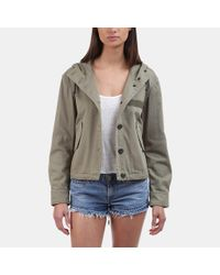 Rag & Bone - Green Laurel Cropped Parka - Lyst