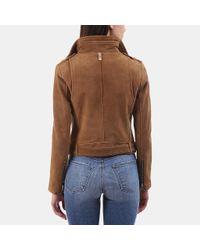 Mackage - Brown Hania Moto Suede Jacket - Lyst
