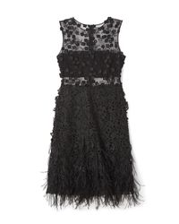 Elie Tahari | Black Anabelle Dress In Floral Lace | Lyst
