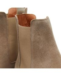 Common Projects - Gray Chelsea Boot Waxed Suede for Men - Lyst